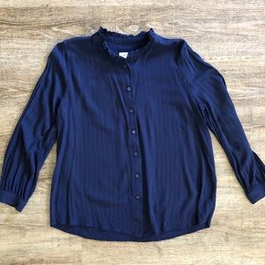 Treasure & Bond | Navy Blue Blouse Button Down